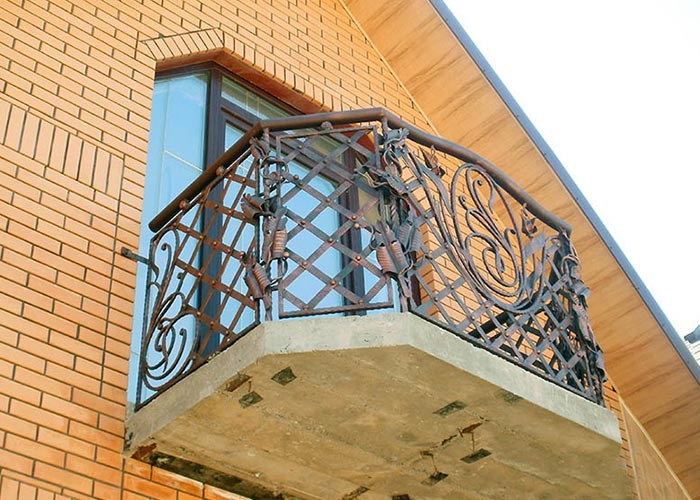 Кованые балконы - фото, цена, купить в краснодаре.
