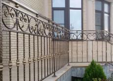 кованые ограждения на террасе