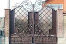 кованые ворота модерн